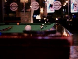 Pool table setup in Redding, California.